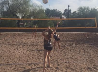 Sand V'ball in second year