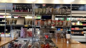 The shelves in Chloe's Corner are filled with candy, chips, tea and other assortments of goods for sale.