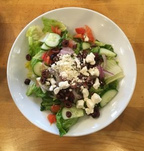 Greek salad at Chole's Corner Photo by: Katie Bussoletti