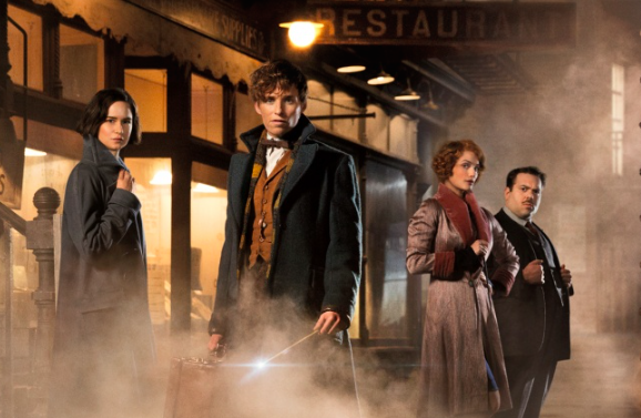 From left, actors Katherine Waterson, Eddie Redmayne, Fine Frenzy and Dan Fogler star in 'Fantastic Beasts'. Photo: Warner Brothers