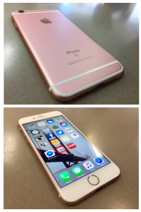 The new iPhone 6S, shown above in rose gold.