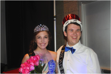 Prom 2015's king and queen Max Taylor and Camille Medeiros