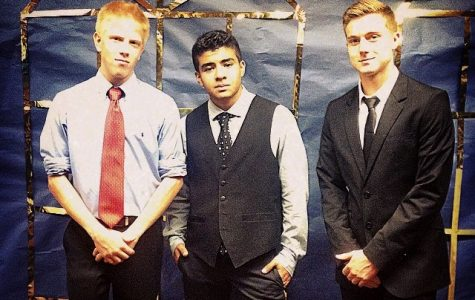 Seniors, from left, Nick Rice, Antonio Wycklendt and Richard Pilz reflect what guys should wear at Homecoming.