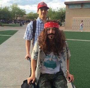 Last year, Henry Lyons and Charlie Corona dressed as  Forrest Gump and Captain Dan.