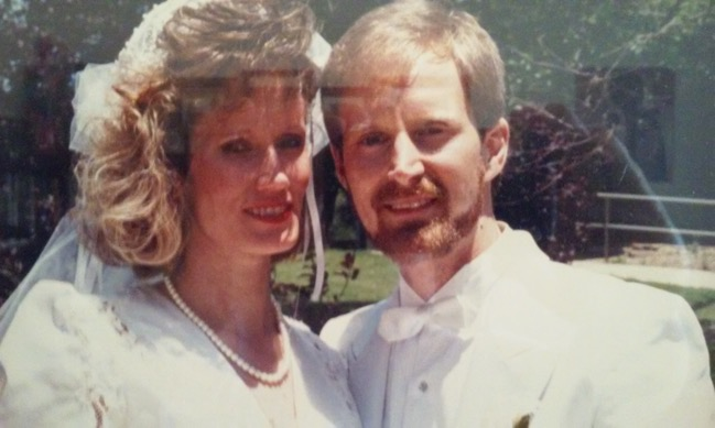 Mr. and Mrs. Matuszak on their wedding day in 1989