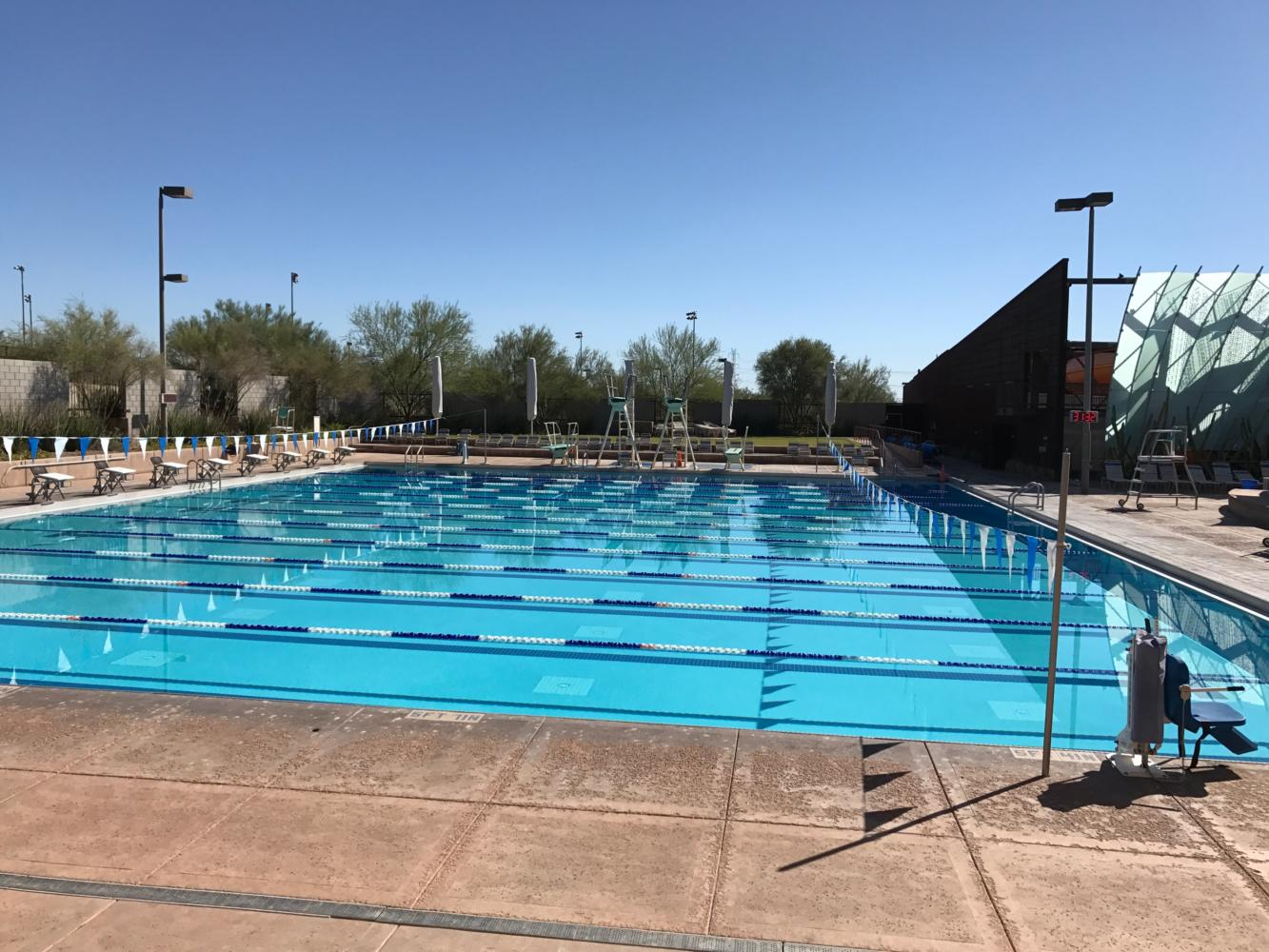 McDowell Mountain Ranch Aquatic Center, where NDP Swim and Dive home meets are held. (Samantha Torre/The Seraphim)