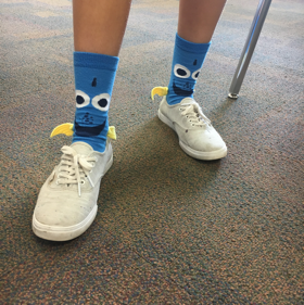 Samantha Torre sports Dory socks (Amelie Young/The Seraphim)