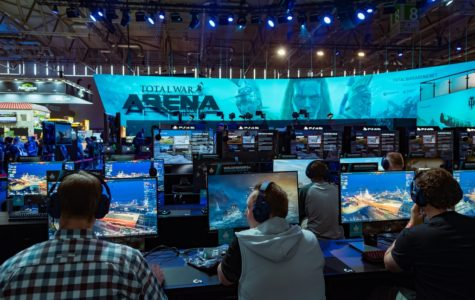 Gamers compete at the Total War Arena Gamescon last year