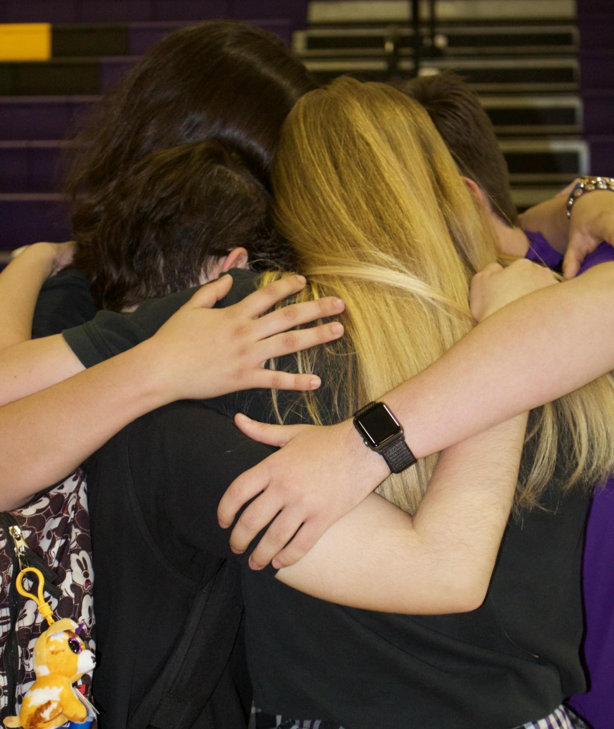 NDP students come together to support each other during hard times. Photo by Kimberly Haub.
