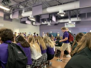 A mixture of NDP students sitting in the cafeteria during brunch on September 4, 2019. (Staff photo courtesy of Jarod Bogsinske)